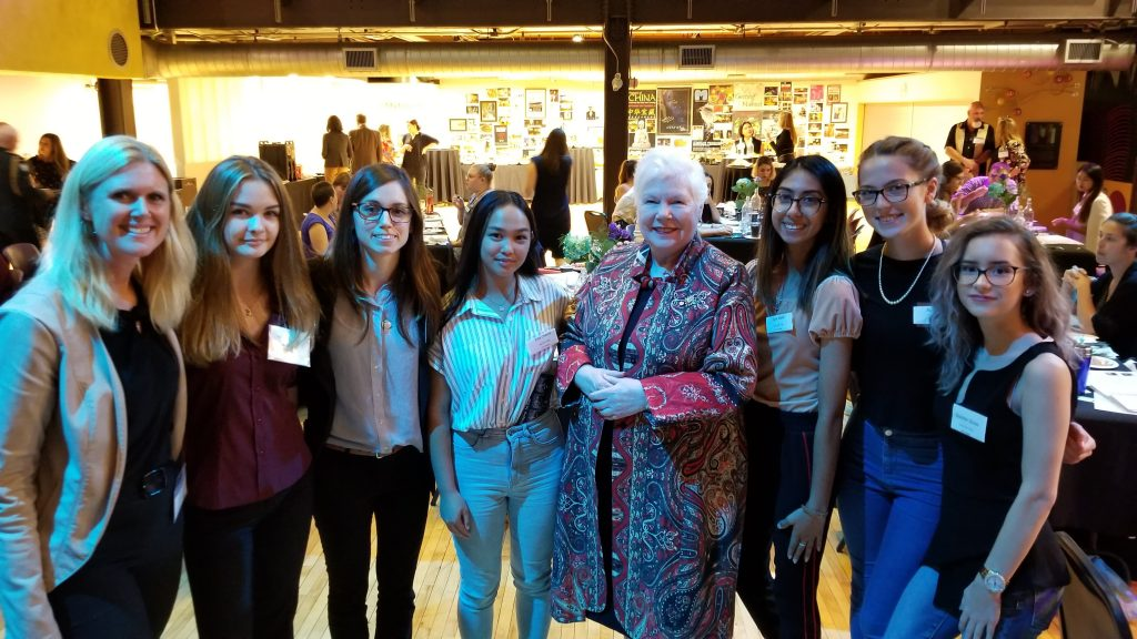 Lieutenant Governor of Ontario with a group of high school girls