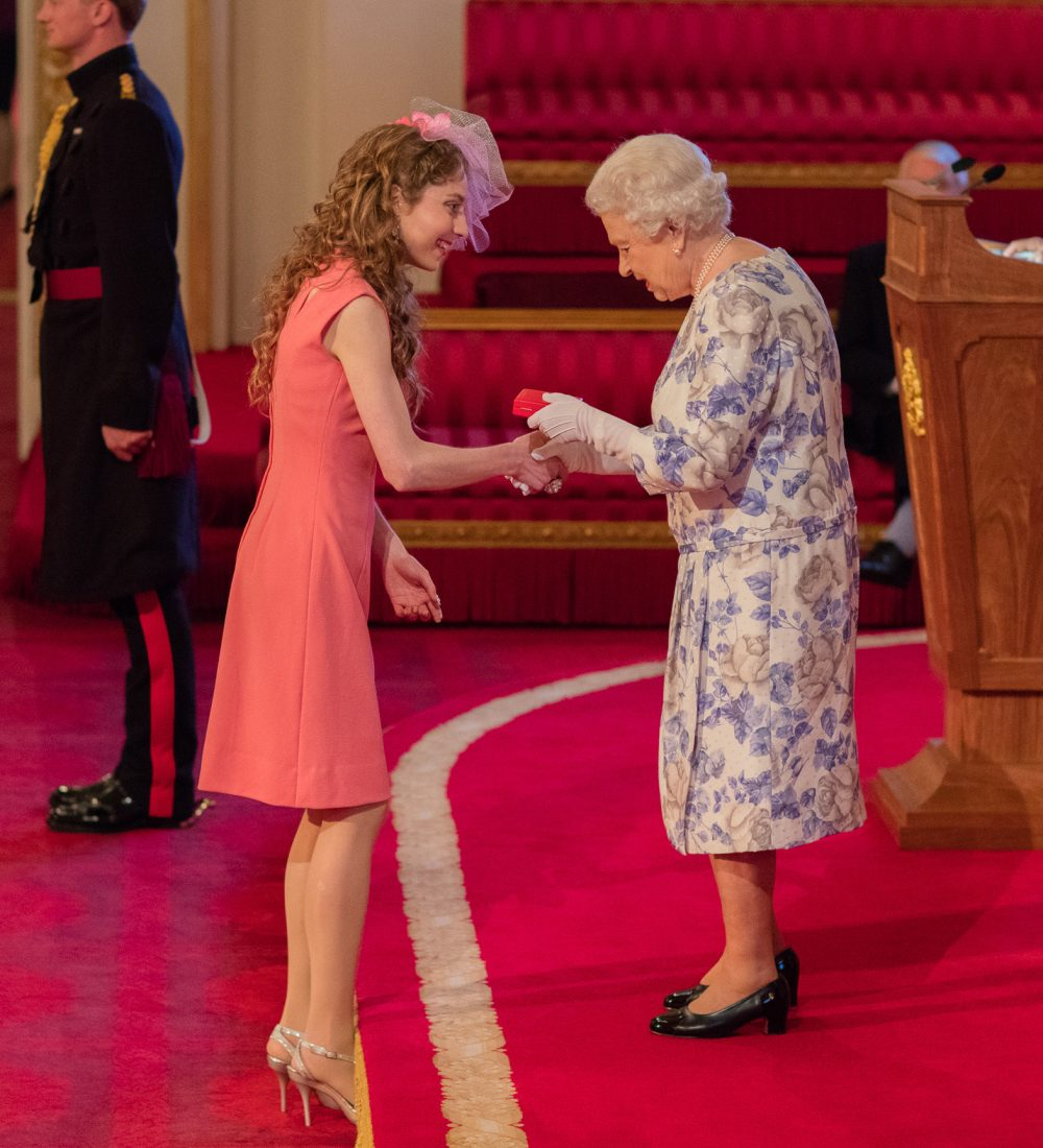 Kelly Lovell at Queen's young leader Ceremony